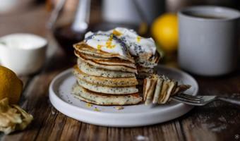 Vegane Lemon Poppy Seed Pancakes